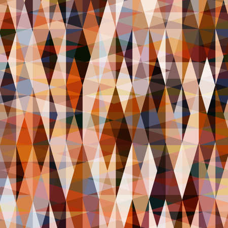 Rhombus and triangles pattern in trendy panettone colors. Abstract geometric vector background..