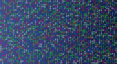 Javascript fictitious programming code background. Java language abstract pattern. Computer program vector illustration
