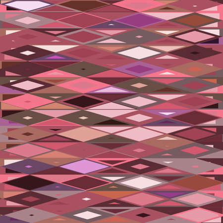 Rhombus and triangles pattern in trendy panettone colors. Jester clownish texture. Abstract geometric vector background.