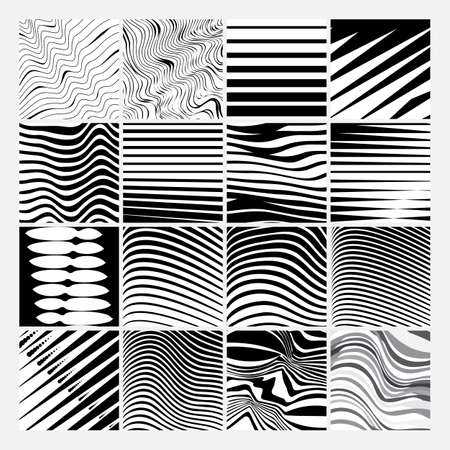 Striped background or pattern. Horizontal and diagonal lines texture vector illustration.