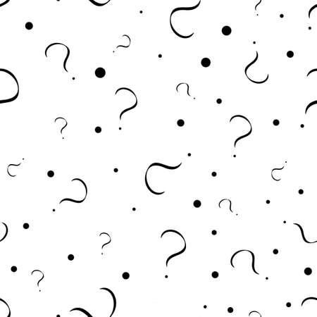 Interrogation seamless pattern with question marks. Simply endless texture of query or quiz symbols. 일러스트