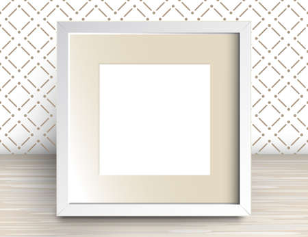 Vector 3d Illustration Of Realistic Square Frame. White Blank ...