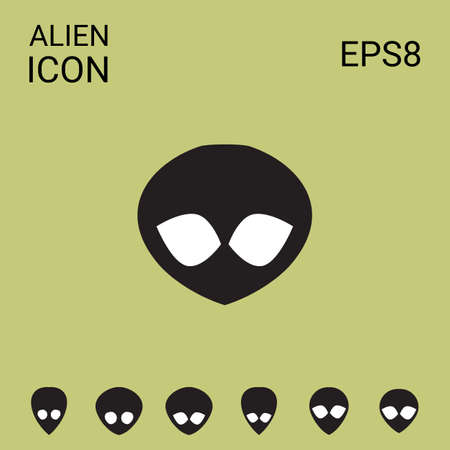 Alien Vector Icon. Extraterrestrial Sign