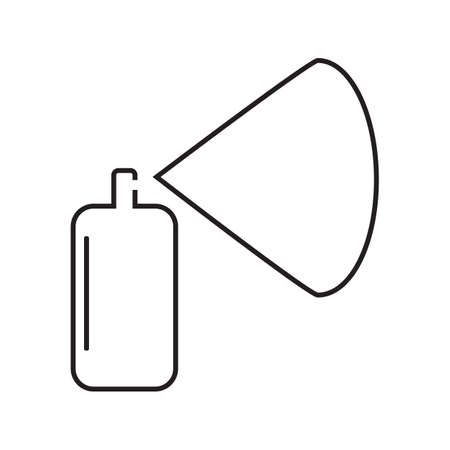 Spray Aerosol Icon Isolated on White Background. Hair Spray Bottle Sign or Hairspray Symbol or Aerosol Deodorant Illustration. Insecticide Container Logo
