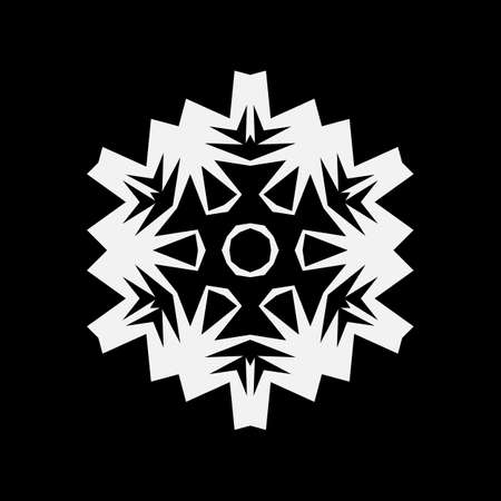 Simple snowflake icon, vector symbol or logo isolated. Snow flake element for Christmas winter design and New Year decoration