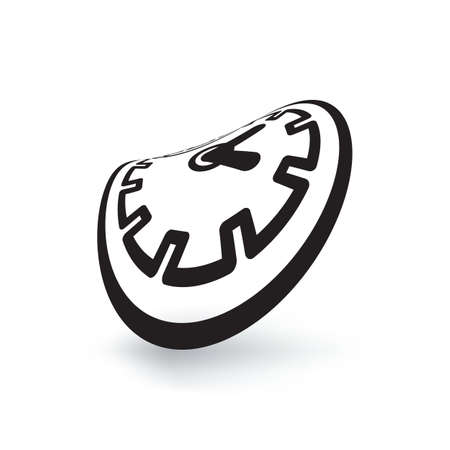Melting clock simple vector icon isolated on white background. Meited time, organisation of the future or expiration concept with watch symbol Stock Illustratie