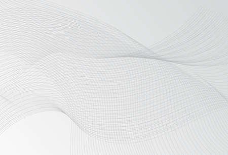 Neutrale dünne Linienwellenstruktur oder Muster mit Streifen im minimalistischen Stil für die Webseite. Trendige Vektorgrafik mit Wellenlinien auf hellgrauem Hintergrund