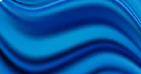 Luxury wavy royal blue satin background. Vector silk fabric texture or elegant soft cotton pattern