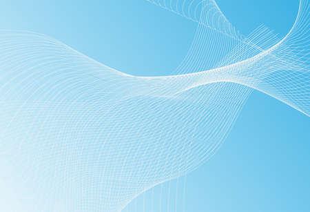 Neutrale blaue dünne Linie Wellenstruktur oder Muster mit Streifen im minimalistischen Stil für die Webseite. Trendige Vektorgrafik mit Wellenlinien auf hellgrauem Hintergrund Vektorgrafik