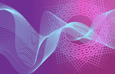 Beautiful Abstract Line Wave Futuristic Background. Thin Line Style Wavy Vector Geometric Pattern Standard-Bild - 124129711