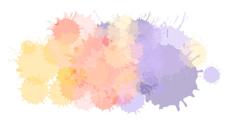 Watercolor paint blobs texture or aquarelle splashes abstract vector background. Water color messy blot effect or pattern with color stains Standard-Bild - 124129746