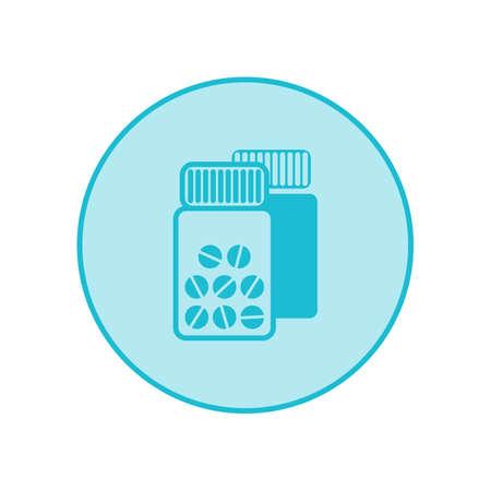 Blank medicine bottle icon isolated on white background Standard-Bild - 124129761