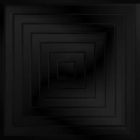 Abstract black vector background or dark texture with squares for product showcase. Digital modern template or minimal 3d grey pattern Standard-Bild - 124129762