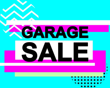 Sale poster with GARAGE SALE text or advertising banner template. Big discount special offer vector illustration Standard-Bild - 124527409