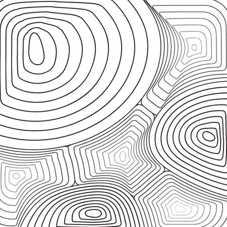 Black and white thin line abstract background. Wavy texture or simple vector pattern of wave ripple effect 矢量图像