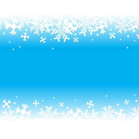 Bright blue background with snowflakes. Vector snowfall winter pattern. Snow falling illustration for Christmas design