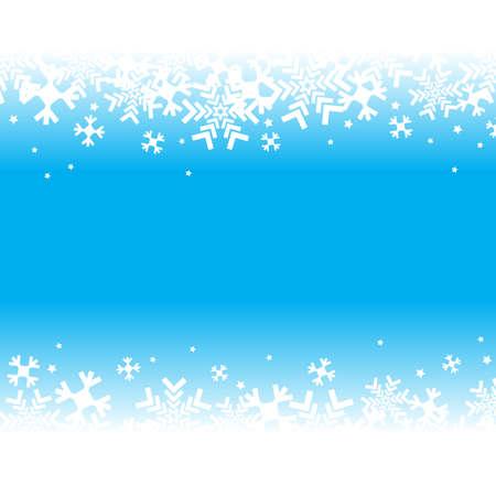 Fondo azul brillante con copos de nieve. Vector patrón de invierno nevadas. Ilustración de caída de nieve para el diseño de Navidad