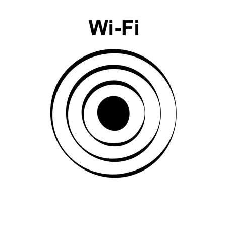 Simple wifi icon, hot spot vector illustration. Free internet zone symbol, wifi  , internet access sign