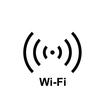 Simple wifi icon, hot spot vector illustration. Free internet zone symbol, wifi, internet access sign