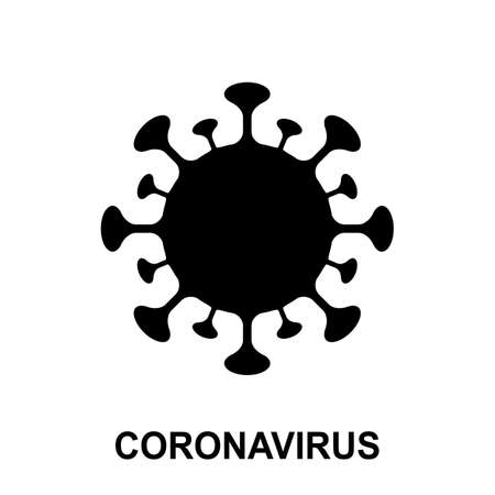 Coronavirus vector icon isolated. Corona virus simple icon, 2019-ncov symbol, covid-19 sign, pandemic pictogram