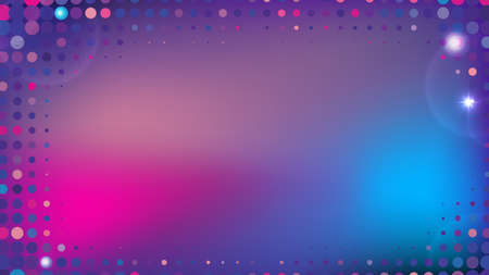 Abstract Blurred Gradient Background for Web Layout. Violet and Pink Half Tone Vector Pattern
