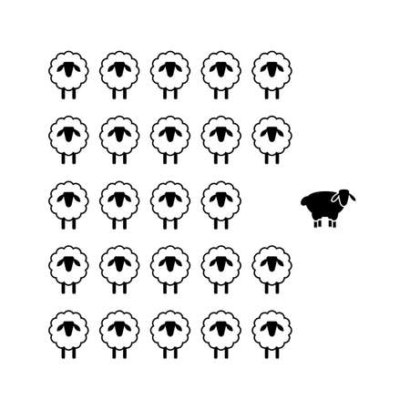 Being different or different thinking concept. Ilustração