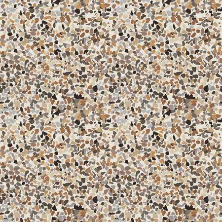 Terrazzo vector seamless pattern with small pebbles. Illustration