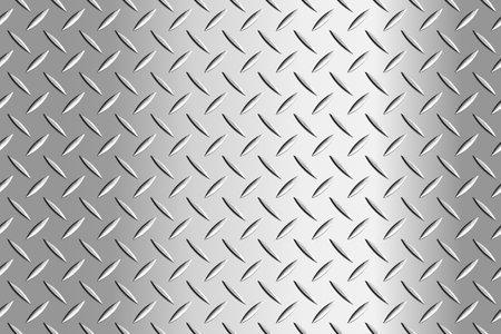 Metal flooring seamless pattern. Steel diamond plate, industry iron floor texture background. Rough stainless walkway, grid floor vector illustration
