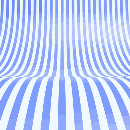 Empty striped showroom background for products exhibition. 3d rendered blue illustration of table, stage, platform, studio backdrop or podium for shoot render