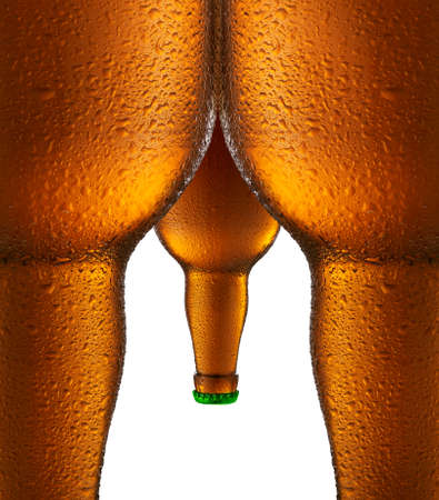 alcohol bottles: Beer bottles