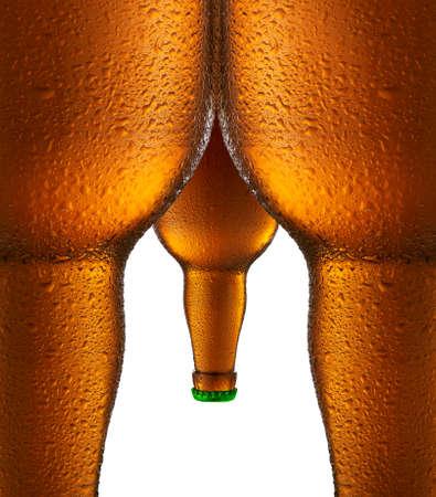 vasos de cerveza: Botellas de cerveza