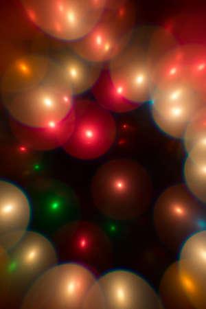 multi color: Decorative multi color bubbles bokeh on a black background