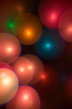 multi color: Multi color light effect -  bubbles bokeh Stock Photo