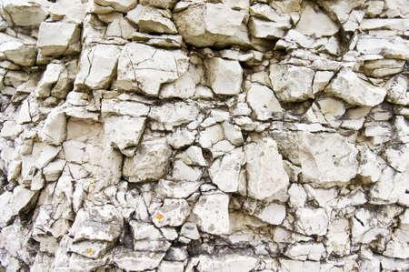Detalle de la pared de piedra caliza