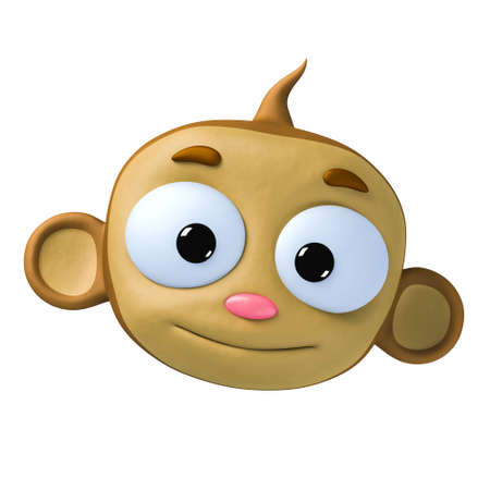 funny cartoon character brown monkey Stock Photo - 5409524