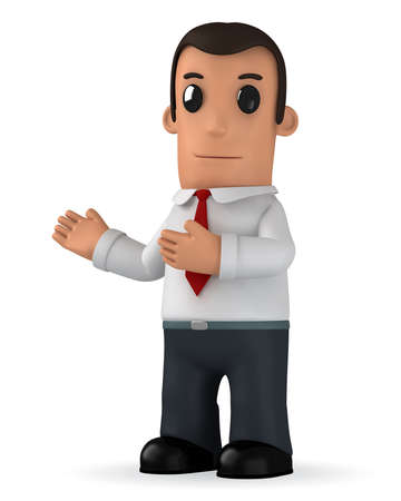 financial advice: funny cartoon character manager