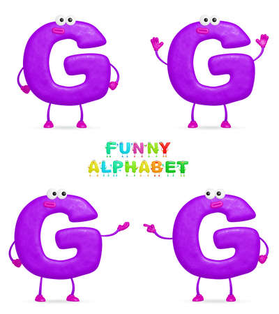 isolated a fun cartoon character G on a white background photo
