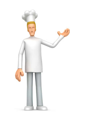 Illustration of an abstract cook on a white background for use in presentations, etc. illustration