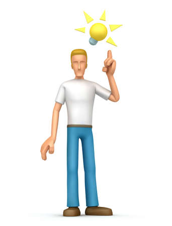 Illustration of an abstract character on a white background for use in presentations, etc. illustration