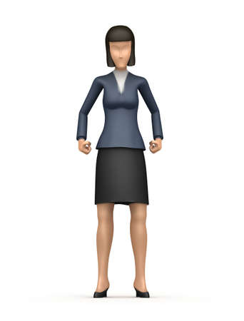 Illustration of an abstract character on a white background for use in presentations, etc. Stock Illustration - 6612815