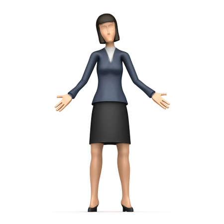 preoccupied: Illustration of an abstract character on a white background for use in presentations, etc.