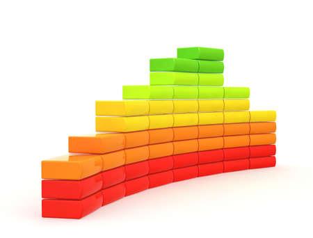 abstracte illustratie op een witte achtergrond voor gebruik in presentaties, enzovoort.  Stockfoto