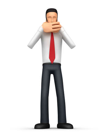Illustration of an abstract character on a white background for use in presentations, etc. Stock Illustration - 6771134