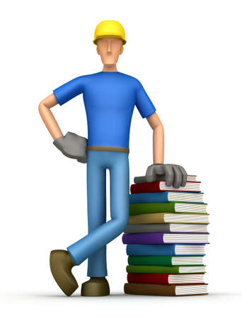 stacking: Illustration of an abstract character on a white background for use in presentations, etc.