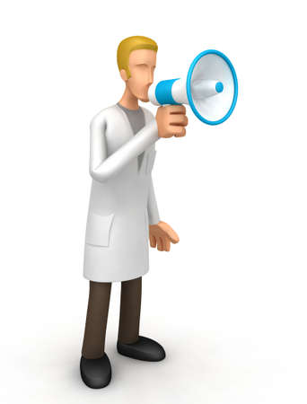 clinical laboratory: Illustration of an abstract character on a white background for use in presentations, etc.