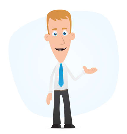 sales manager: Illustration of a cartoon cute character for use in presentations, etc.