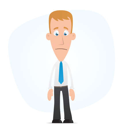 distraught: Illustration of a cartoon cute character for use in presentations, etc.