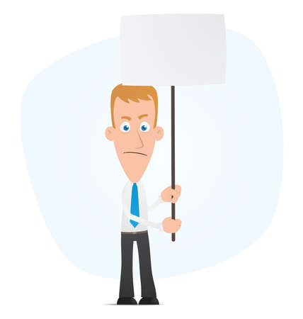 Illustration of a cartoon cute character for use in presentations, etc. Vector