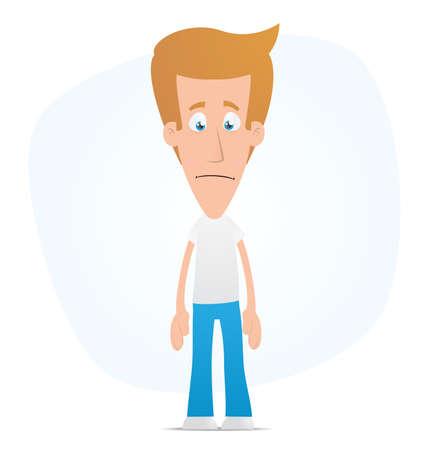 desilusion: Ilustraci�n de un personaje de dibujos animados cute para su uso en presentaciones, etc..