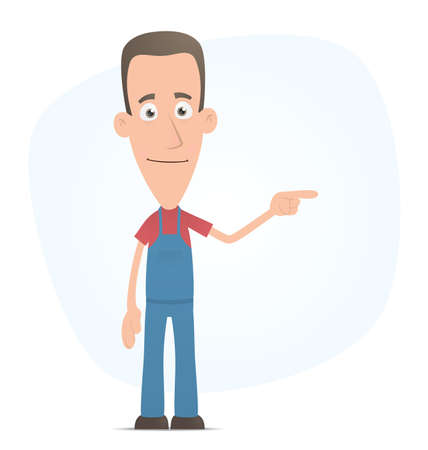 Illustration of a cartoon cute character for use in presentations, etc. Vetores